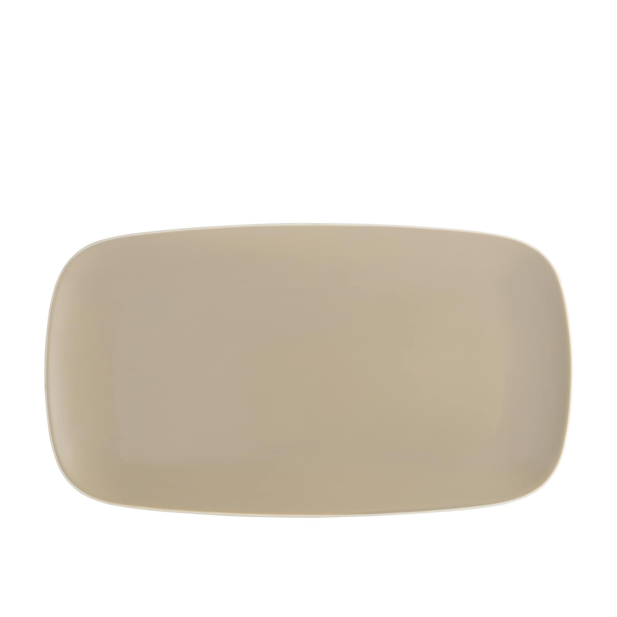"NEW Godinger Silver Art Natura Large Porcelain Serving Tray 11/"" x 16 1//4/"" /& Rack"