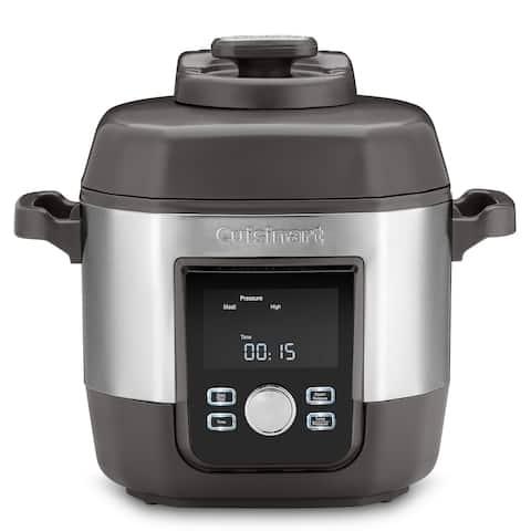Cuisinart CPC-900 6 Quart High Pressure Multicooker, Silver & Black