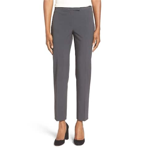 Anne Klein Womens Slim Dress Pants, Grey, 8