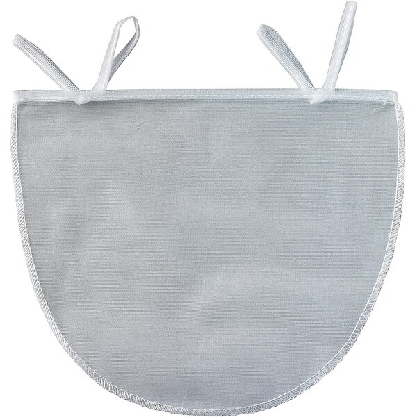 """HIC Reusable and Machine Washable Polyester 11"""" x 9"""" Nut Milk Bag - White. Opens flyout."""
