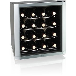 culinair CULAW162SM Culinair AW162S Thermoelectric 16-Bottle Wine Cooler, Silver/Black