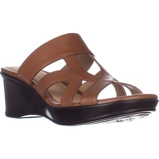 naturalizer Vanity Comfort Wedge Sandals, Saddel Tan Leather