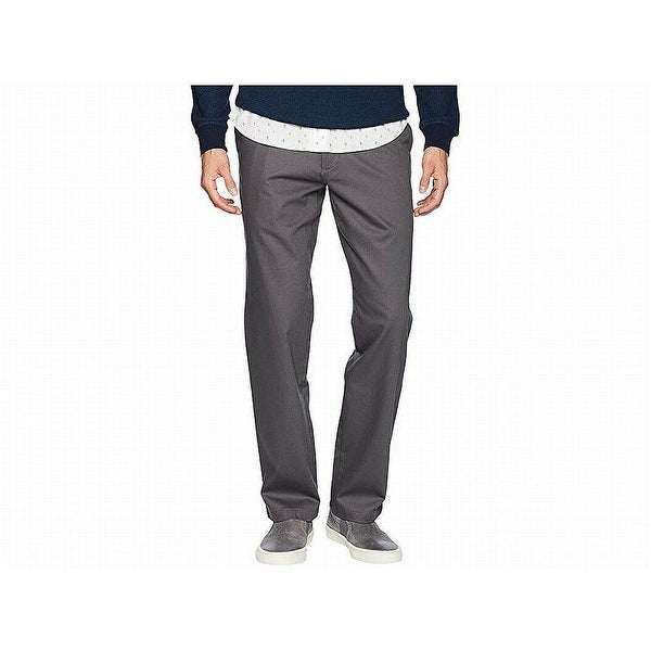 Dockers Mens Pants Gray Size 38x30 Flat Front Straight Khakis Stretch. Opens flyout.