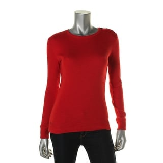 LRL Lauren Jeans Co. Womens Ribbed Stretch Pullover Sweater