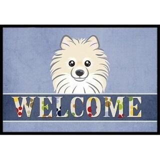 Carolines Treasures BB1393JMAT Pomeranian Welcome Indoor & Outdoor Mat 24 x 36 in.