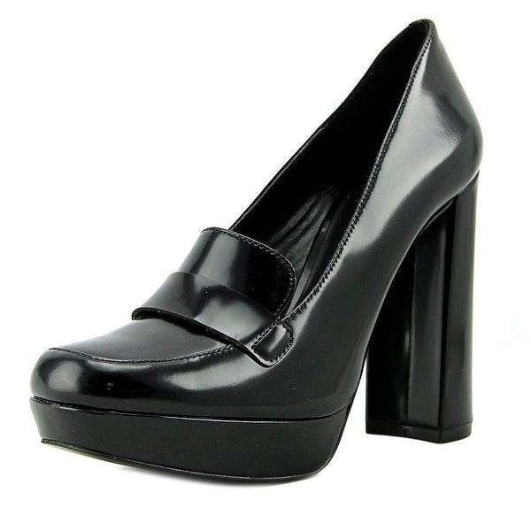 Nine West Dakimo Women Round Toe Leather Black Heels