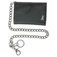"Harley-Davidson Men's Trifold Wallet, Embossed Bar & Shield, Black CR2314L-Black - 5.375"" x 3.75"""