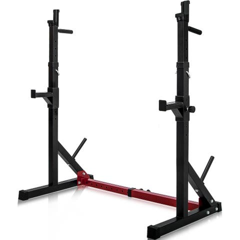 Adjustable Barbell 550LBS Dipping Home Gym Fitness Bench Press Stand