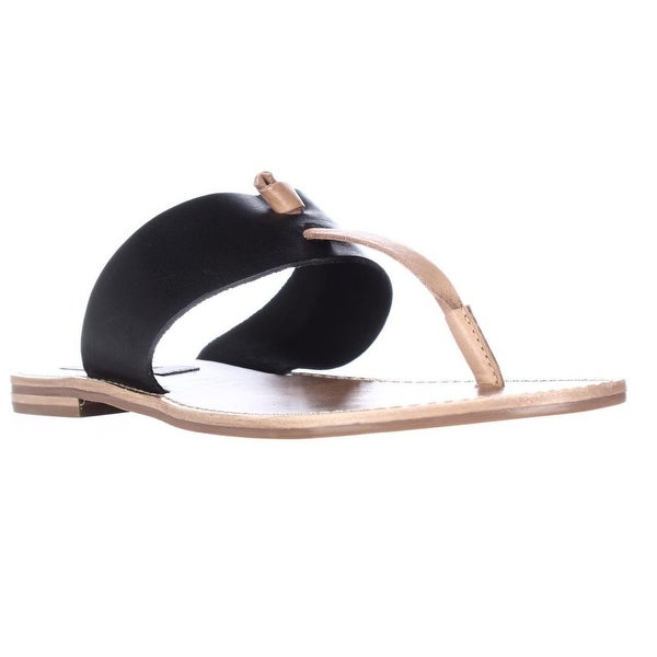 Steve Madden Olivia Flat T-Strap Sandals, Black Multi