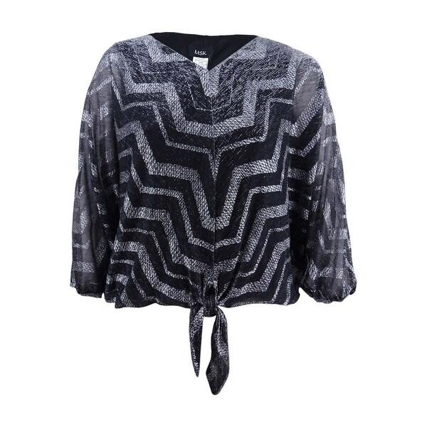 1342f0ca7bef8 Shop MSK Women s Chevron Tie-Hem Blouse (XL