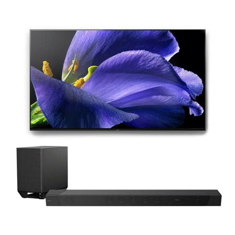 """Sony XBR-55A9G 55"""" BRAVIA OLED 4K UHD HDR TV with HT-ST5000 7.1.2ch 800W Dolby Atmos Sound Bar"""