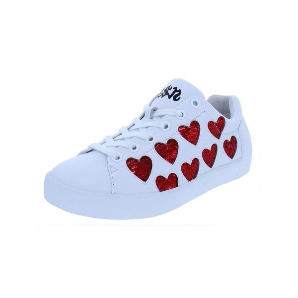 5f3b35e7d8574 Shop ASH Womens Nikita Fashion Sneakers Leather Hearts - Free ...