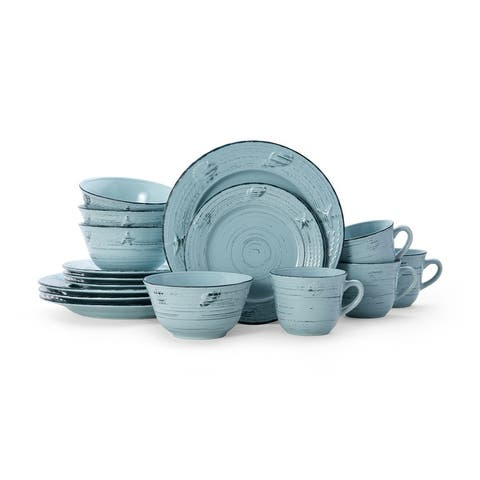 Pfaltzgraff Trellis Teal Coastal 16 picece Dinnerware Set (Service for 4)
