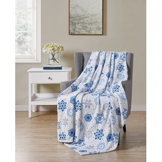 Link to Holiday Snowflake Printed Plush Throw Similar Items in Blankets & Throws