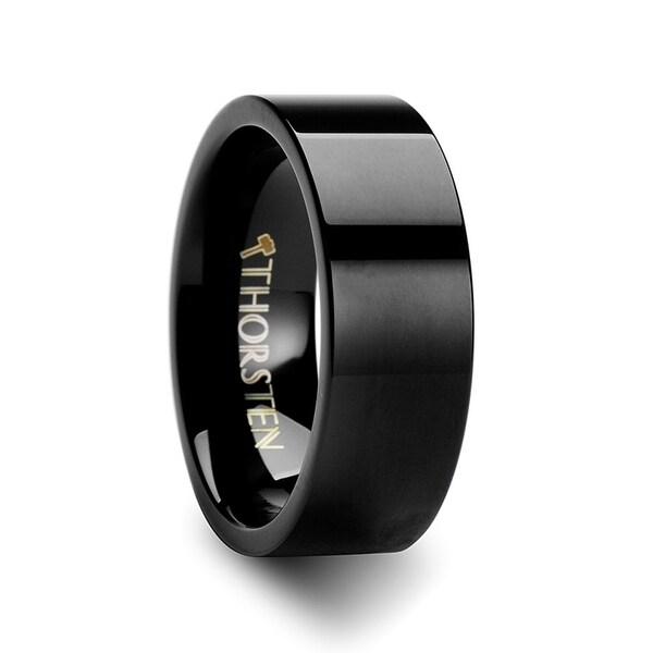 MORPHEUS Flat Black Tungsten Carbide Wedding Ring