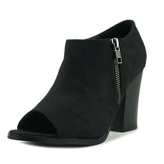 Diba London Indie Women  Open-Toe Canvas Black Bootie