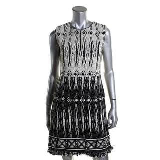 Tory Burch Womens Tweed Fringe Wear to Work Dress - 4