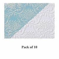 10 Wallpapers White Embossed Textured Vinyl Kensington