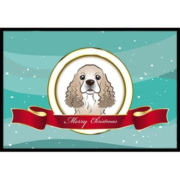 Carolines Treasures BB1526MAT Cocker Spaniel Merry Christmas Indoor & Outdoor Mat 18 x 27 in.
