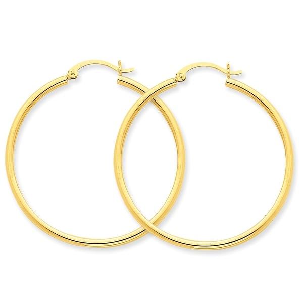 Mcs Jewelry Inc 14 KARAT YELLOW GOLD CLASSIC HOOP EARRINGS (DIAMETER: 45MM)