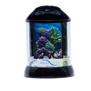 "BioBubble 3D Background for AquaTerra 2 Gallon Black 9"" x 9"" x 12"""