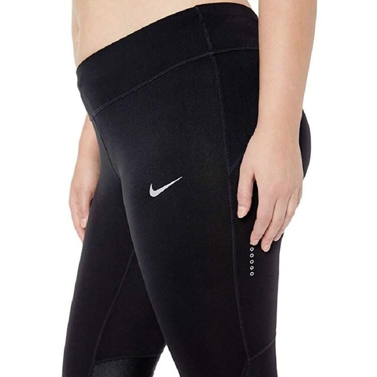 Shop Nike Women S Plus Size Power Compression Cropped Leggings Black Size 3 Extra Large Xxx Large Overstock 27884154