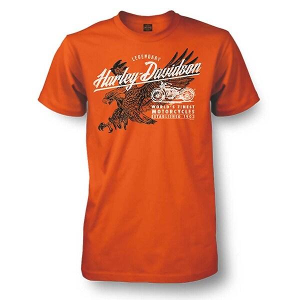 86410ef5 Shop Harley-Davidson Men's Matchless Distressed Eagle Short Sleeve T-Shirt,  Orange - Free Shipping On Orders Over $45 - Overstock - 18146301