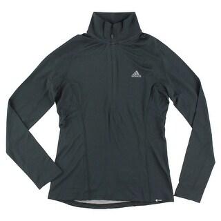 Adidas Womens Long Sleeve Quarter Zip Top Black