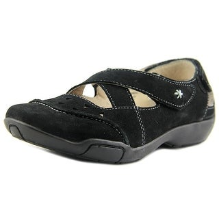 Ros Hommerson Carrie Women Round Toe Leather Black Mary Janes