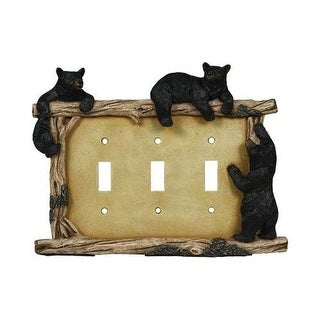 Rivers Edge Bear Triple Switch Plate Cover - 622
