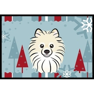 Carolines Treasures BB1703JMAT Winter Holiday Pomeranian Indoor & Outdoor Mat 24 x 36 in.