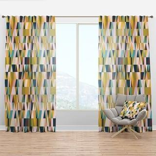 Link to Carson Carrington Labacka Triangular Retro Design Mid-Century Modern Curtain Panel Similar Items in Window Treatments