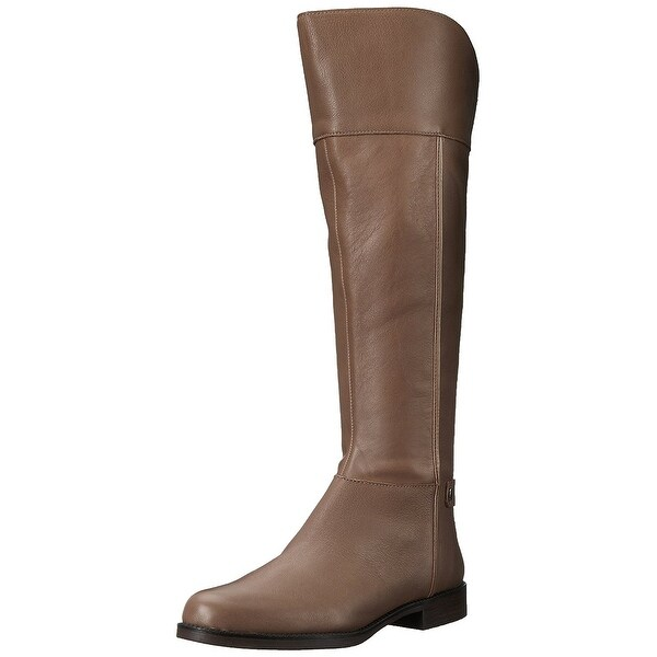 f5b33cd83f60 Shop Franco Sarto Womens Chistine Leather Round Toe Knee High Riding ...
