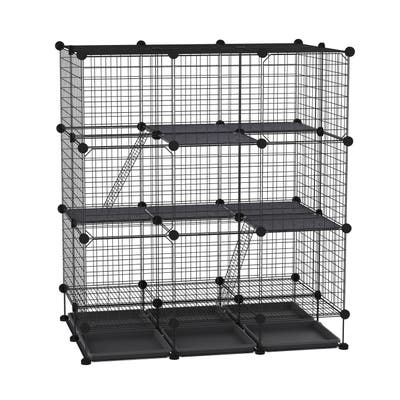 """PawHut Cage for Small Animals 43.75"""" L x 29.5"""" W x 46.75"""" H"""