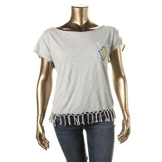 Denim & Supply Ralph Lauren Womens Fringe Boho Pullover Top