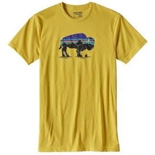 Patagonia Mens Fitz Roy Bison Cotton/Poly T-Shirt