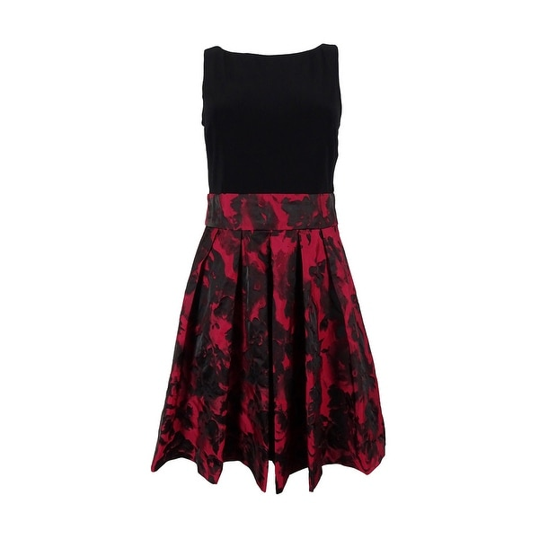 48bfff4792 Shop Ralph Lauren Women s Floral Print Sleeveless Dress - Red black - Free  Shipping Today - Overstock - 15018146