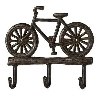 "Set of 3 Metallic Retro Bicycle Decorative Multi Wall-Hook 9.87"""
