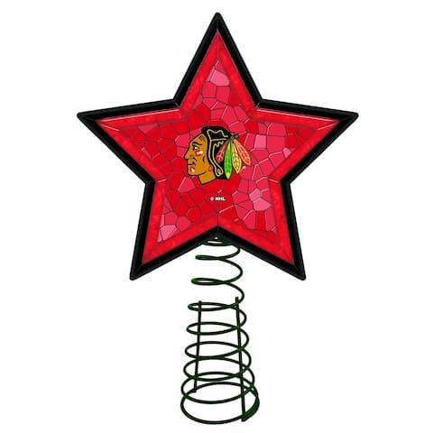 Chicago Blackhawks Mosaic Tree Topper