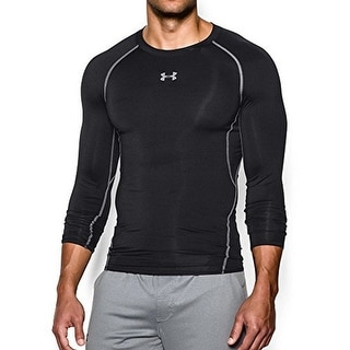 Under Armour Mens HeatGear Armour Long Sleeve Compression Shirt (Option: M)