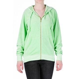 Juicy Couture Black Label Womens Couture Beach Velour Hoodie - XL
