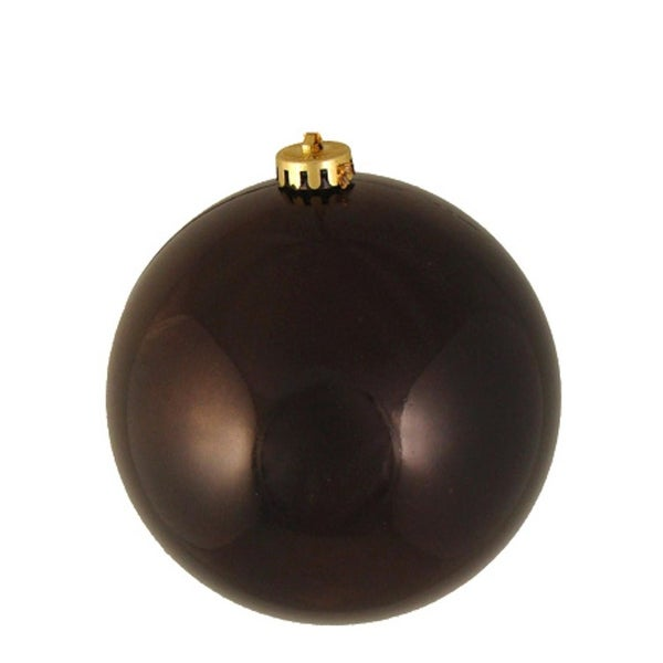 "Shiny Brown Commercial Grade UV Resistant Shatterproof Christmas Ball Ornament 6"" (150mm)"