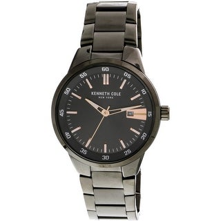 Kenneth Cole Grey Stainless-Steel Japanese Quartz Fashion Watch