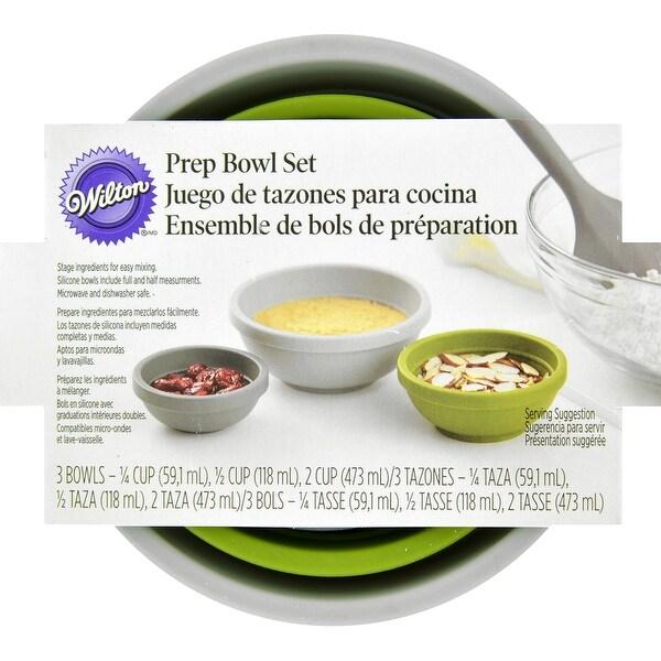 Silicone Prep Bowl Set 3/Pkg-