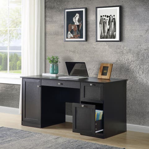TiramisuBest Home Office Computer Desk with 2 Drawers&Storage cabinet