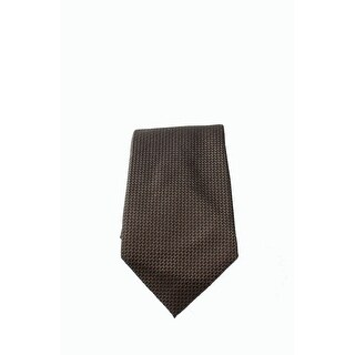 Vince Camuto NEW Brown One Size Silk Geometric Printed Neck Tie