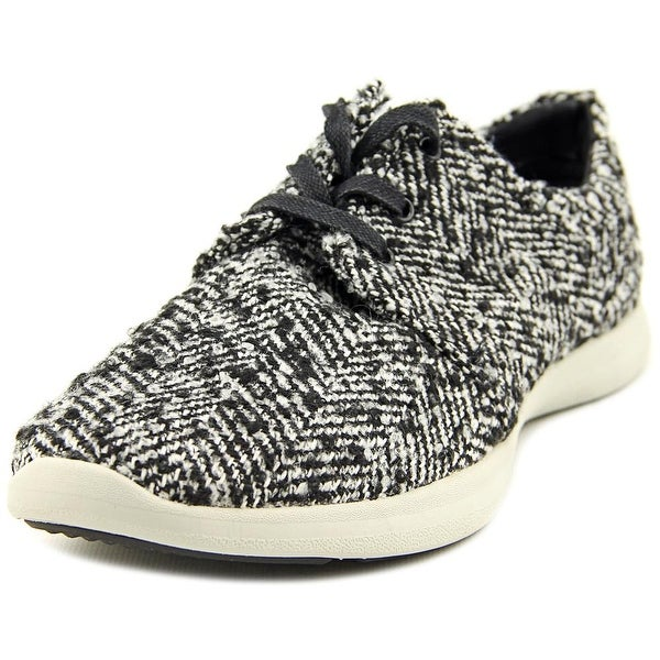 GH Bass & Co Shelby Women Round Toe Canvas Black Fashion Sneakers