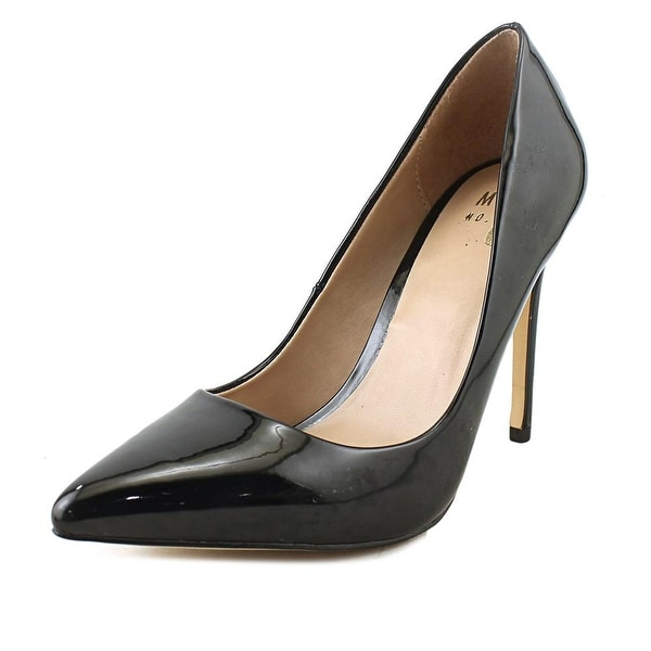 Mix No 6 Dignity Women Pointed Toe Synthetic Black Heels