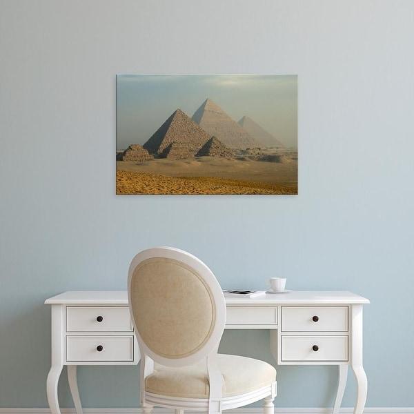 Easy Art Prints Claudia Adams's 'Giza Pyramids Complex' Premium Canvas Art