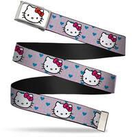Hello Kitty Face Fcg White Bo Chrome Hello Kitty Close Up W Dots & Web Belt